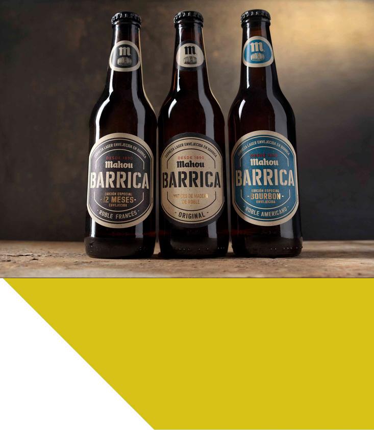 Variedad de cervezas Barrica de Mahou