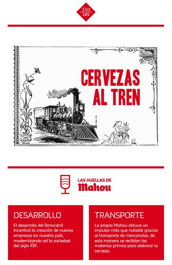 Huella 'Cervezas al tren'