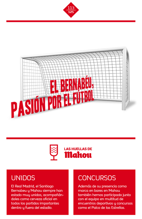 Huella 'El Bernabéu, ¡pasión por el fútbol'