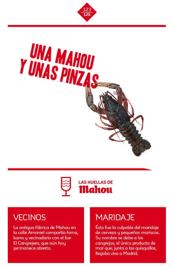 Huella 'Una Mahou y unas pinzas'