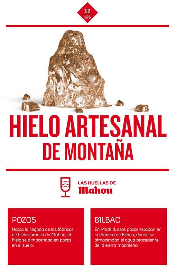Huella 'Hielo artesanal de montaña'