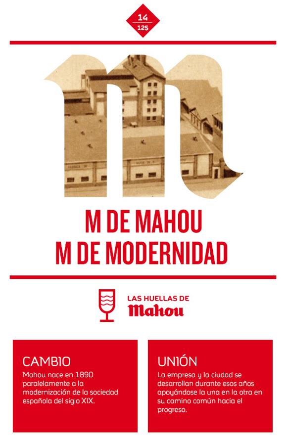 Huella 'M de Mahou M de Modernidad'