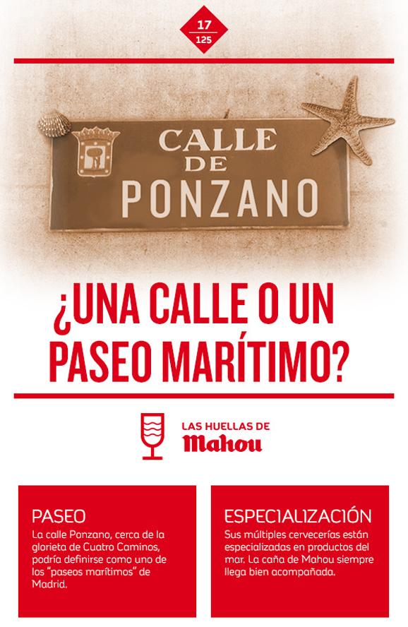 Huella 'Calle Ponzano, ¿una calle o un paseo marítimo?'