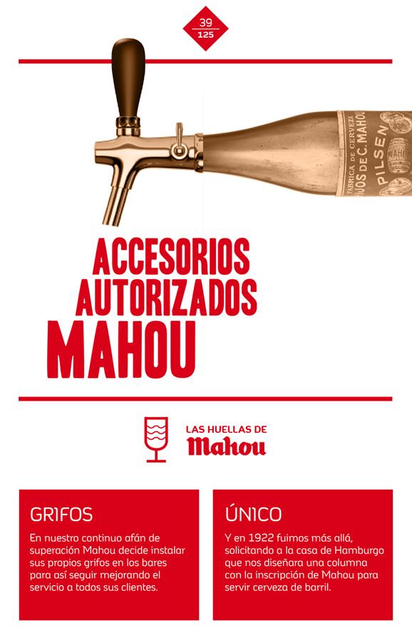 Huella 'Accesorios autorizados Mahou'