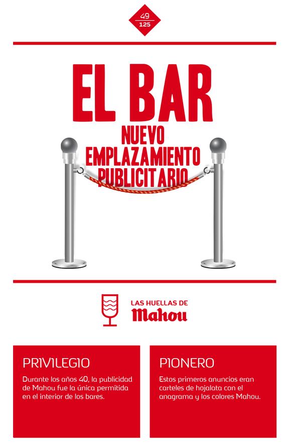 Huella 'El Bar, nuevo emplazamiento publicitario'