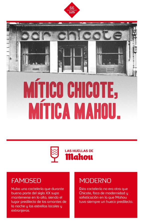 Huella 'Mítico Chicote, Mítica Mahou'
