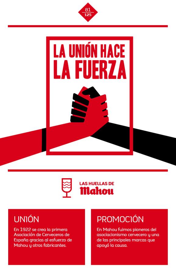 Huella 'La unión hace la fuerza'