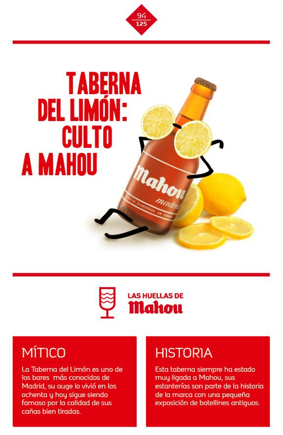 Huella 'Taberna de Limón: culto a Mahou'