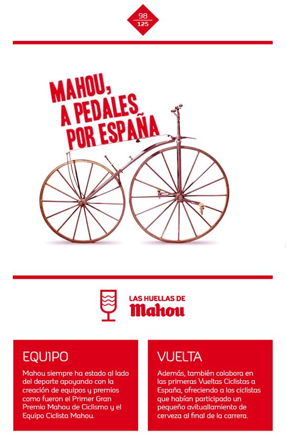 Huella 'Mahou, a pedales por España'