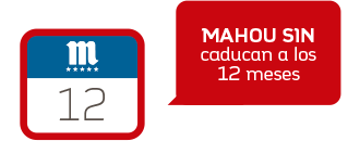 MAHOU SIN - Caducan a los 12 meses