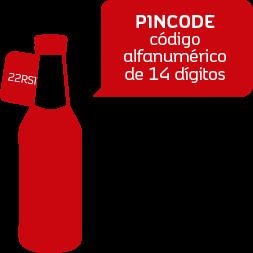 PINCODE código alfanumérico de 14 dígitos
