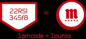 1 pincode = 1 punto