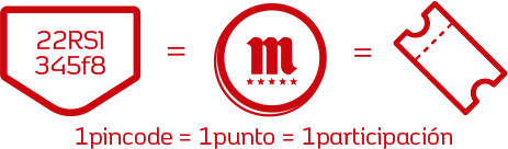 1 pincode = 1 punto = 1 participación