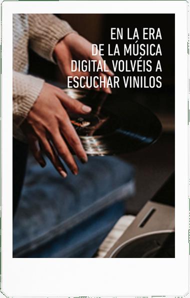 En la era de la música digital volvéis a escuchar vinilos.