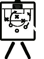 Ilustración jugada de estrategia
